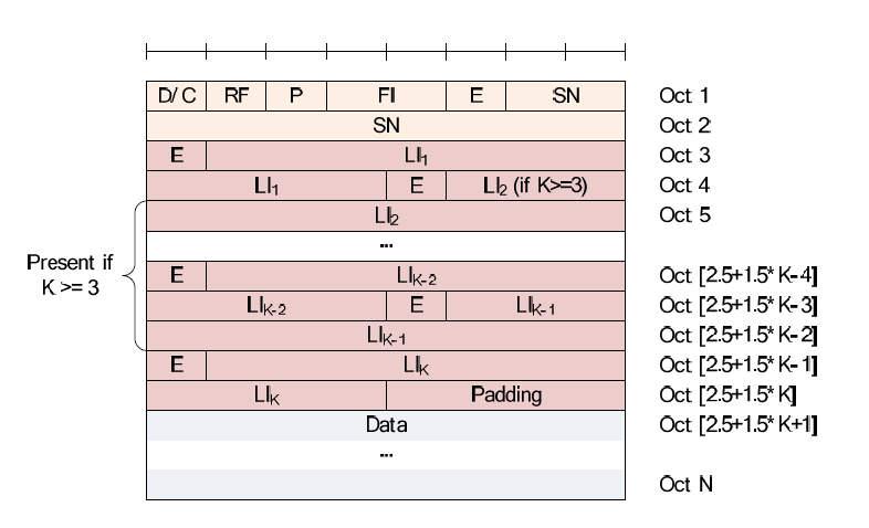 LTE RLC AMD PDU Odd number of LIs